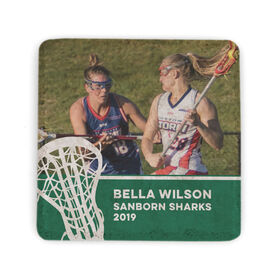 Girls Lacrosse Stone Coaster - Team Photo with Stick