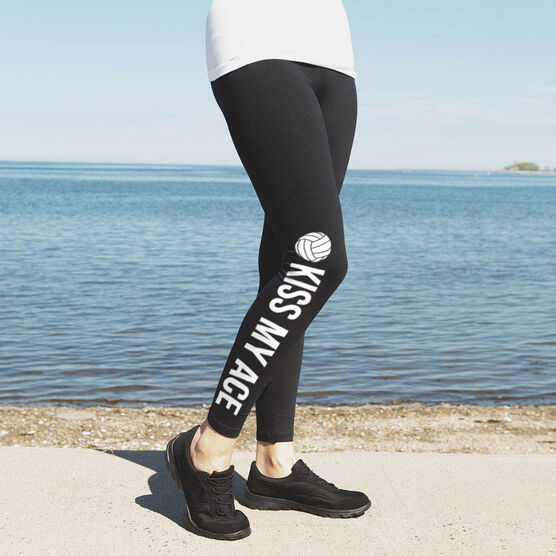 Volleyball Leggings - Kiss My Ace