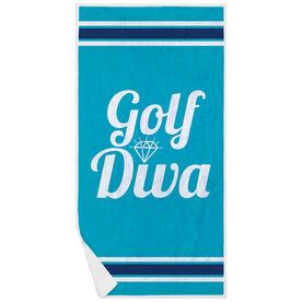 Golf Premium Beach Towel - Diva