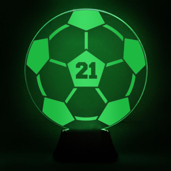 Soccer Acrylic Led Lamp Soccer Ball With Number Chalktalksports