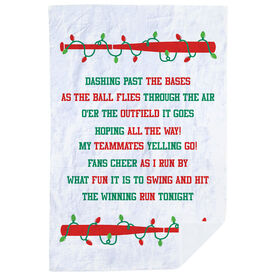 Softball Premium Blanket - Jingle All The Way