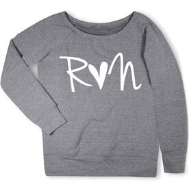 Running Fleece Wide Neck Sweatshirt - Run Heart