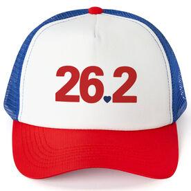 Running Trucker Hat - 26.2 Heart