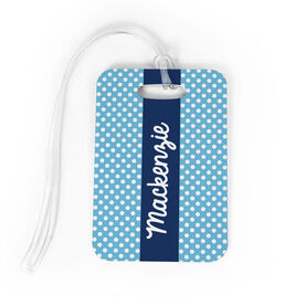 Personalized Bag/Luggage Tag - Personalized Polka Dots