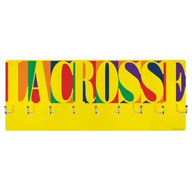 Lacrosse Hooked on Medals Hanger - Lacrosse Mosaic