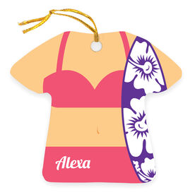 Personalized Ornament - Surfer Girl Outfit