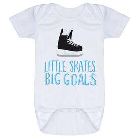 Hockey Baby One-Piece - Little Skates Big Goals