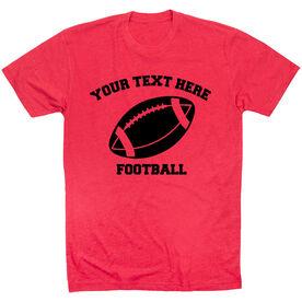 Custom Football T-Shirt Short Sleeve