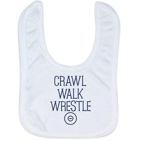 Wrestling Baby Bib - Crawl Walk Wrestle