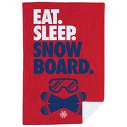 Snowboarding Premium Blanket - Eat. Sleep. Snowboard. Vertical