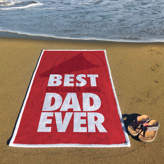Cheerleading Premium Beach Towel - Best Dad Ever