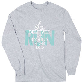 Youth T-Shirt Long Sleeve She Believed She Could So She Did