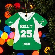 Field Hockey Ornament - Personalized Jersey