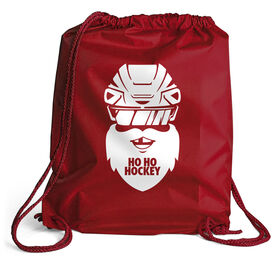 Hockey Sport Pack Cinch Sack - Ho Ho Santa Face