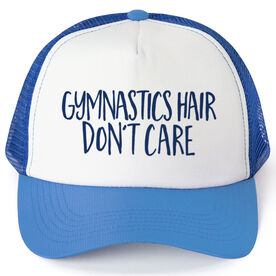 Gymnastics Trucker Hat - Gymnastics Hair Don't Care