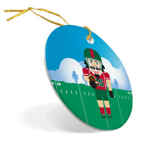 Football Porcelain Ornament Nutcracker
