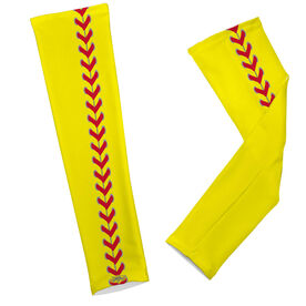 Softball Printed Arm Sleeves Softball Stitches