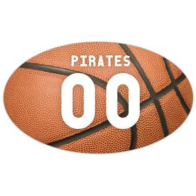 Basketball Oval Car Magnet Basketball Texture