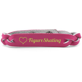 Figure Skating Leather Engraved Bracelet Love Figure Skating
