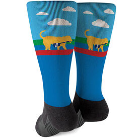 Crew Printed Mid-Calf Socks - Cody The Crew Dog