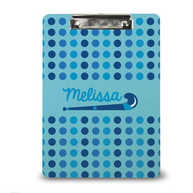 Field Hockey Custom Clipboard Personalized Field Hockey Stick with Dots