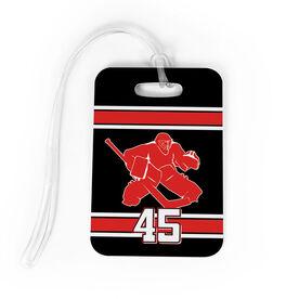 Hockey Bag/Luggage Tag - Personalized Hockey Goalie
