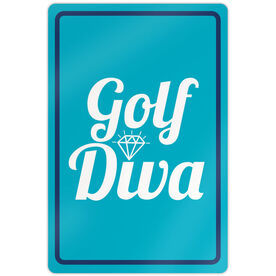 "Golf Aluminum Room Sign (18""x12"") Golf Diva"
