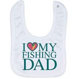 Fly Fishing Baby Bib - I Love My Fly Fishing Dad