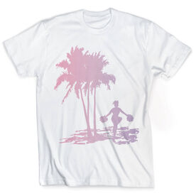 Vintage Cheerleading T-Shirt - Palm Tree Pom Poms
