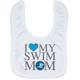 Swimming Baby Bib - I Love My Swim Mom