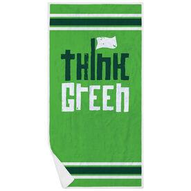 Golf Premium Beach Towel - Think Green