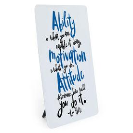 Running Desk Art - Ability Motivation Attitude