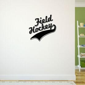 Field Hockey Written Out Removable ChalkTalkGraphix Wall Decal
