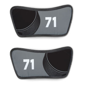 Hockey Repwell™ Sandal Straps - Puck and Number Reflected