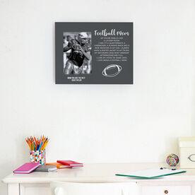 Football Photo Frame - Football Mom Poem