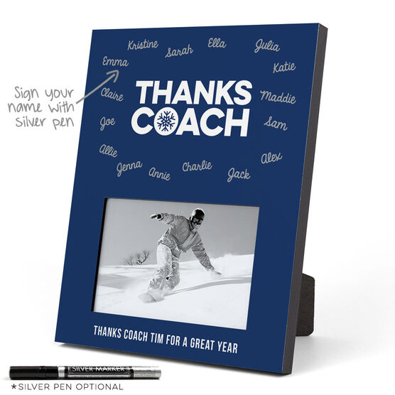 Skiing and Snowboarding Photo Frame - Coach (Autograph)