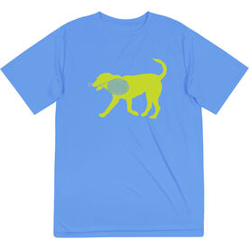 Tennis Short Sleeve Performance Tee - Dennis The Tennis Dog