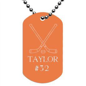 Engraved Personalized Hockey Dog Tag Necklace