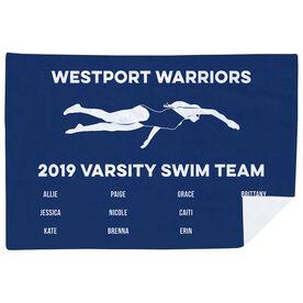 Swimming Premium Blanket - Girls Team Roster