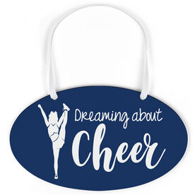 Cheerleading Oval Sign - Dreaming About Cheer