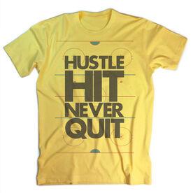 Vintage Hockey T-Shirt - Hustle Hit Never Quit