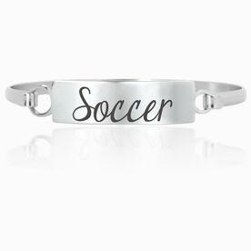 Soccer Engraved Clasp Bracelet Soccer