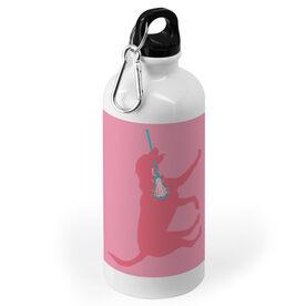 Girls Lacrosse 20 oz. Stainless Steel Water Bottle - Lacrosse Dog