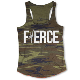 Figure Skating Camouflage Racerback Tank Top - Love