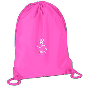Run Girl (Stick Figure-w/word) Sport Pack Cinch Sack