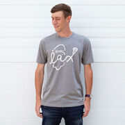 Lacrosse Short Sleeve T-Shirt - Santa Lax Face