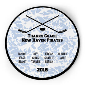 Hockey Circle Plaque - Team Roster