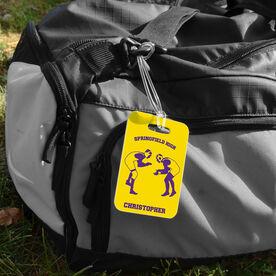 Wrestling Bag/Luggage Tag - Personalized Wrestling Team Wrestlers