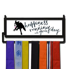 RunnersWALL Happiness Is Running With Your Dog Medal Display