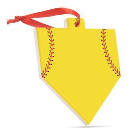 Softball Home Plate Ceramic Ornament - Home Plate (Blank)
